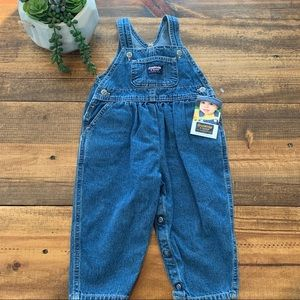 OshKosh B'gosh Girls Denim Overalls 18 Vintage New
